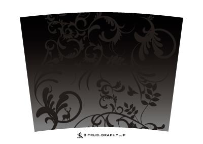 スターバックス クリエイトユアタンブラー デザイン 台紙 GARDEN[BLACK]