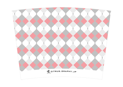 スターバックス クリエイトユアタンブラー デザイン 台紙 ピンキーアーガイル