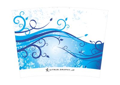 スターバックス クリタン(クリエイトユアタンブラー) デザイン 台紙 ウェーブ