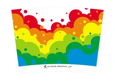 スターバックス クリタン(クリエイトユアタンブラー) デザイン 台紙 バブルレインボー