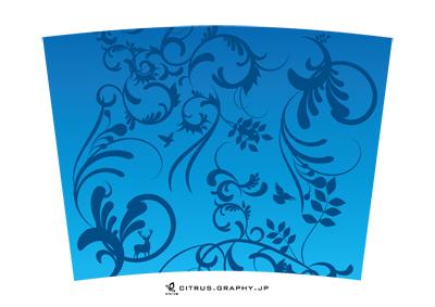 スターバックス クリタン(クリエイトユアタンブラー) デザイン 台紙 GARDEN[DEEP BLUE]